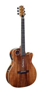 Boulder Creek ECRM6 N OM Body Solitaire Series Acoustic Electric