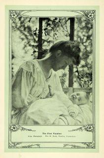 1907 Print Portrait Mother Child Baby Ella M Boult CT   ORIGINAL