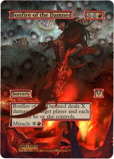 Foil Altered Art Sexy Bonfire of The Damned Avacyn Restored MTG