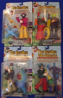 Set of 4 2000 McFarlane Beatles Yellow Submarine Figures