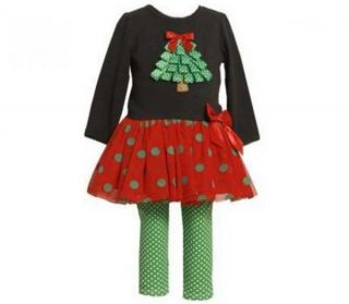 Bonnie Jean Girls Christmas Boutique Size 3T Toddler Pageant Outfit