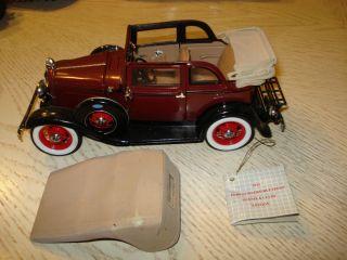 Convertible Sedan Bonnie Clyde Edition 1 24 Scale Franklin Mint