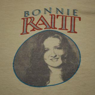 Vintage Bonnie Raitt T Shirt 1970s Original