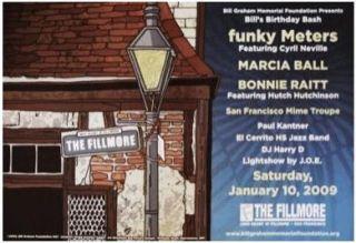 Bonnie Raitt Meters 2009 Fillmore Concert Poster BGF7