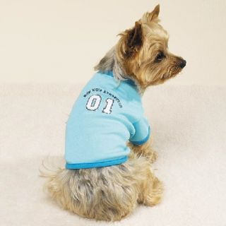 Small Blue Bow WOW Athletics T Shirt Dog Puppy New SM