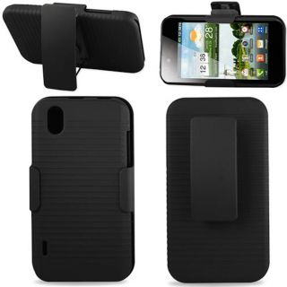 Boost Mobile LG Marquee LS855 Hard Case Stand Belt Clip and Holster