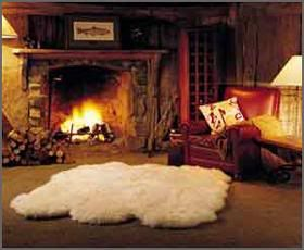 New Zealand Natural Long Wool Ivory Quad Sheepskin Rug Bed Throw Cover