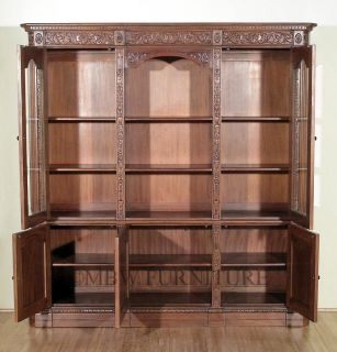 Finish Presidential Resolute Bookcase Display Cabinet 049W