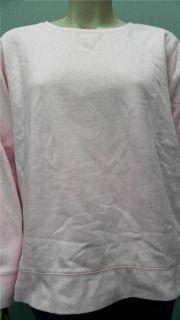 Joe Boxer Soft Warm Womens Plus 2X Comfort Crew Sweatshirt Pink Solid