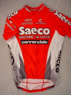 Cannondale TEAM SAECO Custom Short Sleeve CYCLING Jersey (Mens Medium