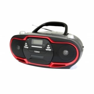 Portable Stereo Radio  CD Player Boombox USB AC CD