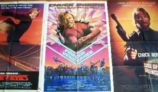 CHUCK NORRIS ~ 5 Original CLASSIC US 1 Sheets ~ GREAT TITLES