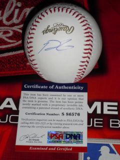 PRINCE FIELDER SIGNED 2012 WORLD SERIES BASEBALL, DETROIT TIGERS, PSA