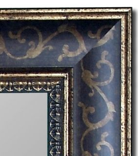 New 59 x 86 Bordeaux Walnut Gold Scroll Wall Mirror USA Hitchcock