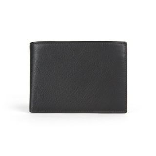 Bosca Nappa Vitello Black ID Passcase Bifold Wallet