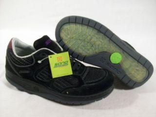 New Mephisto Womens Sano Eternal Air Walking Shoe Black Suede 7 US