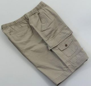 New Mens Cargo Shorts M Medium Boston Traders Khaki