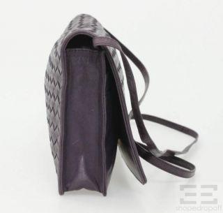 BOTTEGA VENETA Vintage Purple Intrecciato Nappa Leather Crossbody Bag