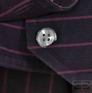 Boss Hugo Boss Mens 2 PC Charcoal Grey Plum Button Up Shirt Set Size