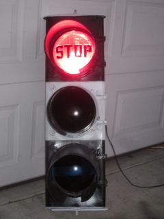 Bossa Nova BRITISH PLESSEY TIN LANTERN Traffic Signal Stop Light