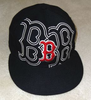 MLB Boston Red Sox Baseball Cap Fitted Size 6 7 8 New Era Hat