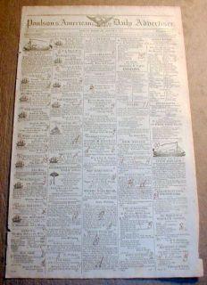 BEST 1815 display newspaper w BATTLE of WATERLOO Napoleon Bonaparte