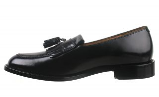 Bostonian Mens Dress Loafer Shoes Danvers Black Leather Tassel 25440