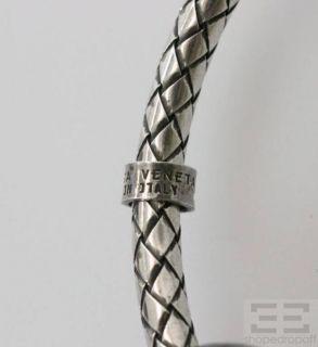 BOTTEGA VENETA Sterling Silver Black Onyx Bracelet
