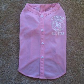 Dog Shirt size Medium New Without Tags Baseball Jersey Style