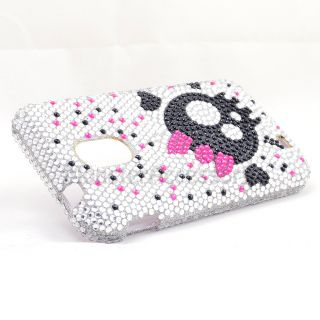 Bow Skull Bling Hard Case for Samsung Galaxy s 2 Epic 4G Touch Sprint