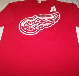 Brendan Shanahan Jersey Shirt Large Detroit Red Wings NHL Hockey