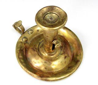 antique brass candlestick candle holder finger lamp vintage