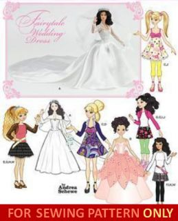 Doll Clothes Pattern Fits Barbie Bratz Liv Moxie Gowns Casual Clothes