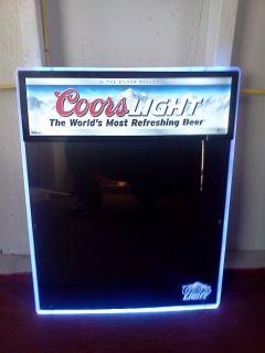 Vintage 1980 Adolph Coors Beer Motion Bar Light Pub Sign
