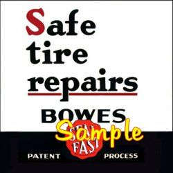 Bowes Sealfast 3x3 Gas Vinyl Stickers Oil Gasoline Pump Signs Globes