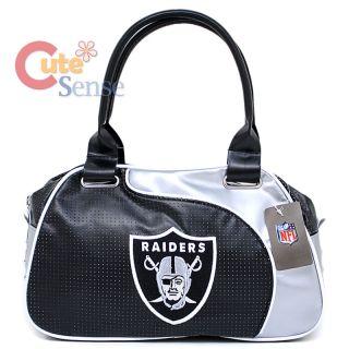 NFL Oakland Raiders Bowler Bag Purse Hand Bag NFL Team Logo Women Bag