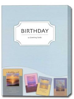 Natures Splendor Boxed Birthday Cards 12 Greeting Cards