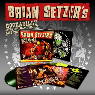 Brian Setzer Rockabilly Riot Live From the Planet 3 Lps Colored Vinyl