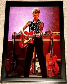 Brian Setzer Stray Cats Gretsch 6120 Framed Tribute Portrait