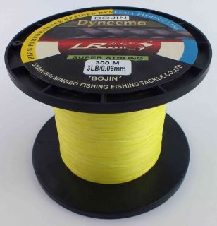 FISHING LINE 3LB 300M YELLOW 100 SK 71 DYNEEMA WHITING POPPERS BREAM