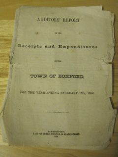 AUDITORS ACCOUNTING REPORT BOXFORD MA Alms House Inventory Schools