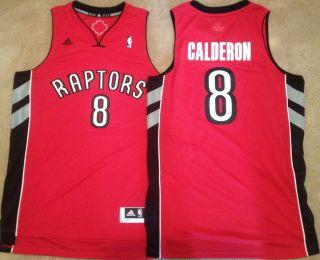 Jose Calderon Toronto Raptors Red Mens Sewn Jersey Swingman Revolution