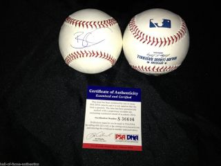 Brian Wilson Signed Official MLB Baseball San Francisco Giants PSA DNA