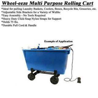 Multi Purpose Rolling Cart Recycle Bins Coolers Boxes Bins More