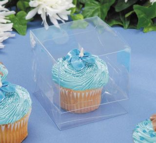 12 Clear Cupcake Boxes Wedding Bridal Baby Shower