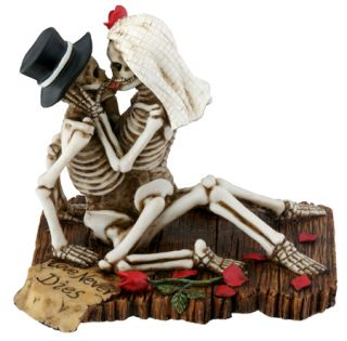 Skeleton Halloween Wedding Cake Topper Bride Groom Figurine New