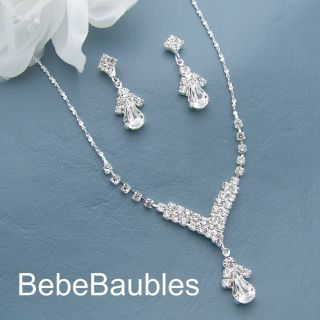 Bridal Wedding Bridesmaid Gift Jewelry Necklace Set 71