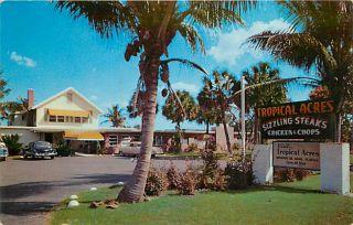 FL BOYNTON BEACH TROPICAL ACRES RESTAURANT MAILED 1957 K43519