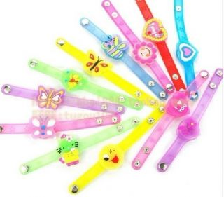 Blinking Spiked Flash LED Cute Bracelet Rave Lights Burning Toy