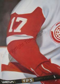 Brett Hull Detroit Red Wings   Original Hockey NHL Oil Painting on